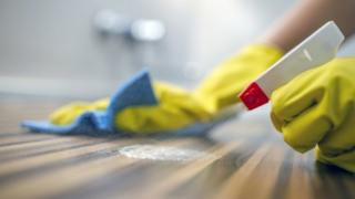 Cleaning kitchen surfaces