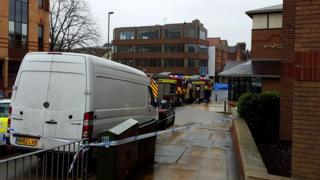 Guildford crash scene