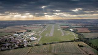 An aerial view of RAF Wittering