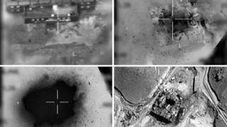 Imágenes del ataque al supuesto reactor nuclear en Siria.