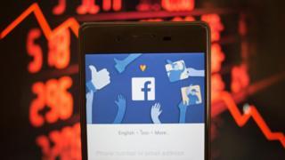The Facebook app on a smartphone