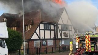 Margate pub fire