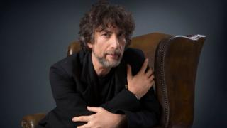 Picture shows author Neil Gaiman photographed for the Radio 4 adaption of his story 'How the Marquis Got His Coat Back'.
