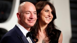 Amazon oga Jeff Bezos and im wife MacKenzie Bezos