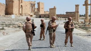 Российские военные в Пальмире