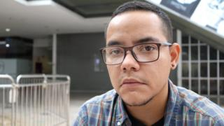 André Bellorín, a transgender man in Caracas, Venezuela