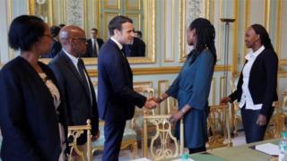 Kuri uyu wa gatanu, Perezida Macron w'Ubufaransa yagiranye inama n'abahagarariye itsinda ry'abarokotse Jenoside yo mu Rwanda