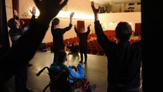 на репетиции