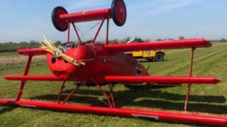 Crashed tri-plane