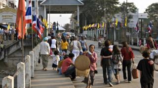 ထိုင်း-မြန်မာနယ်စပ်က မဲဆိုင်-တာချီလိတ် နယ်စပ်ဂိတ်တစ်နေရာ