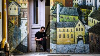 Nizhny's street art encompasses more than 300 works scattered across the city, from murals to sculptures to graffiti