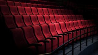 An empty cinema auditorium