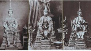 พระบรมฉายาลักษณ์ รัชกาลที่ 5, 6 และ 7 ในพระราชพิธีบรมราชาภิเษก