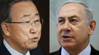 Ban Ki-Moon (izquierda) y Netanyahu (derecha)
