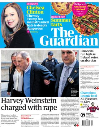 Guardian Saturday front page