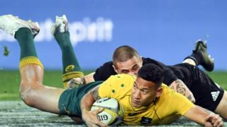 Australian rugby player Israel Folau