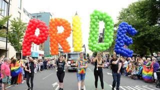 The Belfast Pride parade 2018