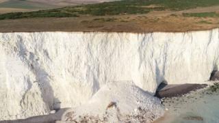 Cliff fall at Birling Gap