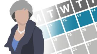 Graphical image showing Theresa May's week
