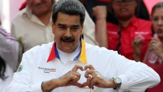 A rally in support of the government of Venezuela's President Nicolas Maduro in Caracas