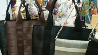 Bags on a rail