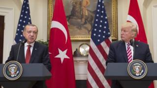 Cumhurbaşkanı Recep Tayyip Erdoğan, ABD Başkanı Donald Trump