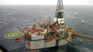 North Sea platform