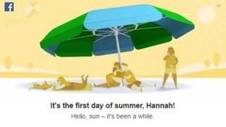 Facebook released a promotional first day of summer poster onto user's time lines