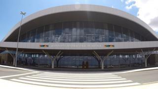 Fachada do Aeroporto Internacional de Nacala