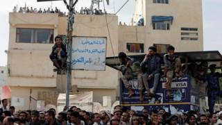 إعدام في ميدان التحرير بصنعاء