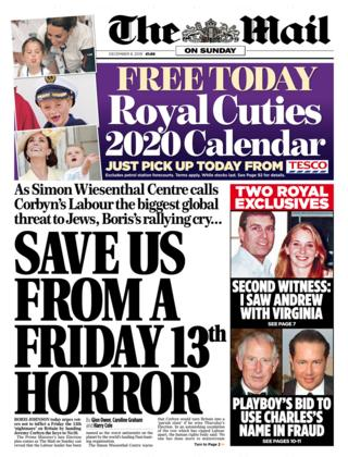 Mail on Sunday 8 December 2019