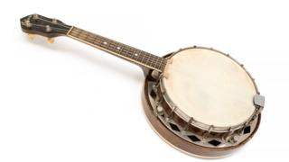 George Formby's banjo ukulele which is to be sold at auction
