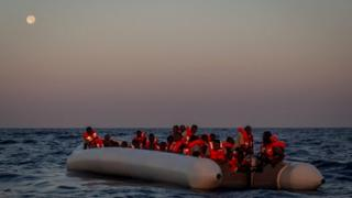 Migrants rescued off Lampedusa, Italy