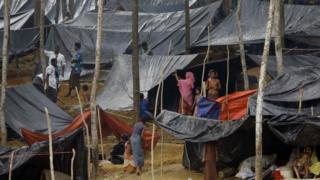 """Rohingya refugees from Myanmar""""s Rakhine"""