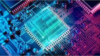 Imagem de um circuito integrado