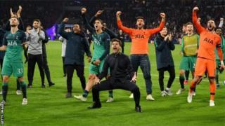 Tottenham ayaa gaartay Fiinaalka tartanka Champions League-ga