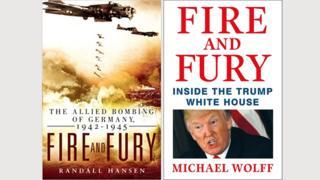 """Tapas de los libros """"Fuego y Furia""""."""
