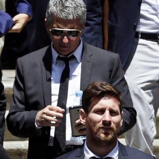 Messi y su padre