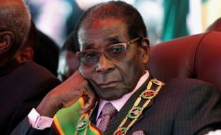 Zimbabwe's President Robert Mugabe pictured during a rally in Harare