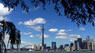 Vista de la ciudad de Toronto.