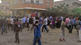Protesters march against President Omar al-Bashir in the capital Khartoum's twin city of Omdurman on January 29, 2019