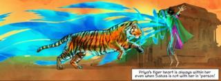 Priya with her tiger Sahas