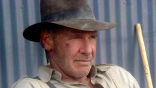 Harrison Ford dressed as Indiana Jones in 2007