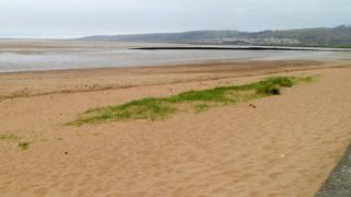 Llanelli beach in Carmarthenshire