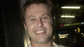 Joel McIlroy at a movie premiere in Sydney in 2003