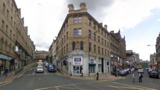 Junction of Godwin Street and Kirkgate, in Bradford