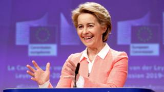 European Commission President-elect Ursula von der Leyen presents her new top team