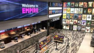 Interior of an Empire Cinema venue