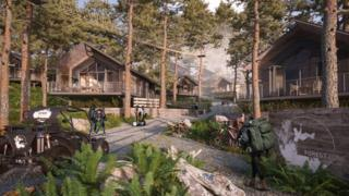 Artist impression of the Afan Valley Adventure resort