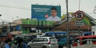 Baliho Cak Imin di Tambun Selatan, Kabupaten Bekasi